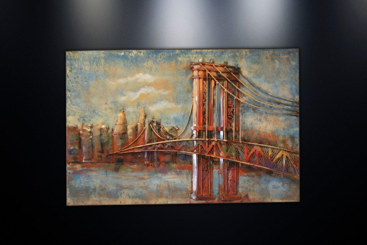 Art Decor 20 Photos Brooklyn Bridge Metal Wall Art Wall Art Ideas