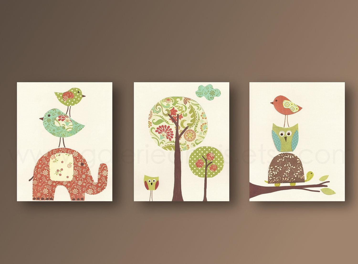 Owl Room Decor 20 Inspirations Canvas Prints For Baby Nursery Wall Art