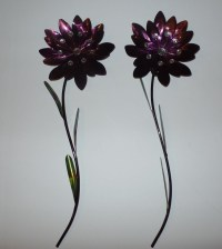 20+ Choices of Purple Flower Metal Wall Art