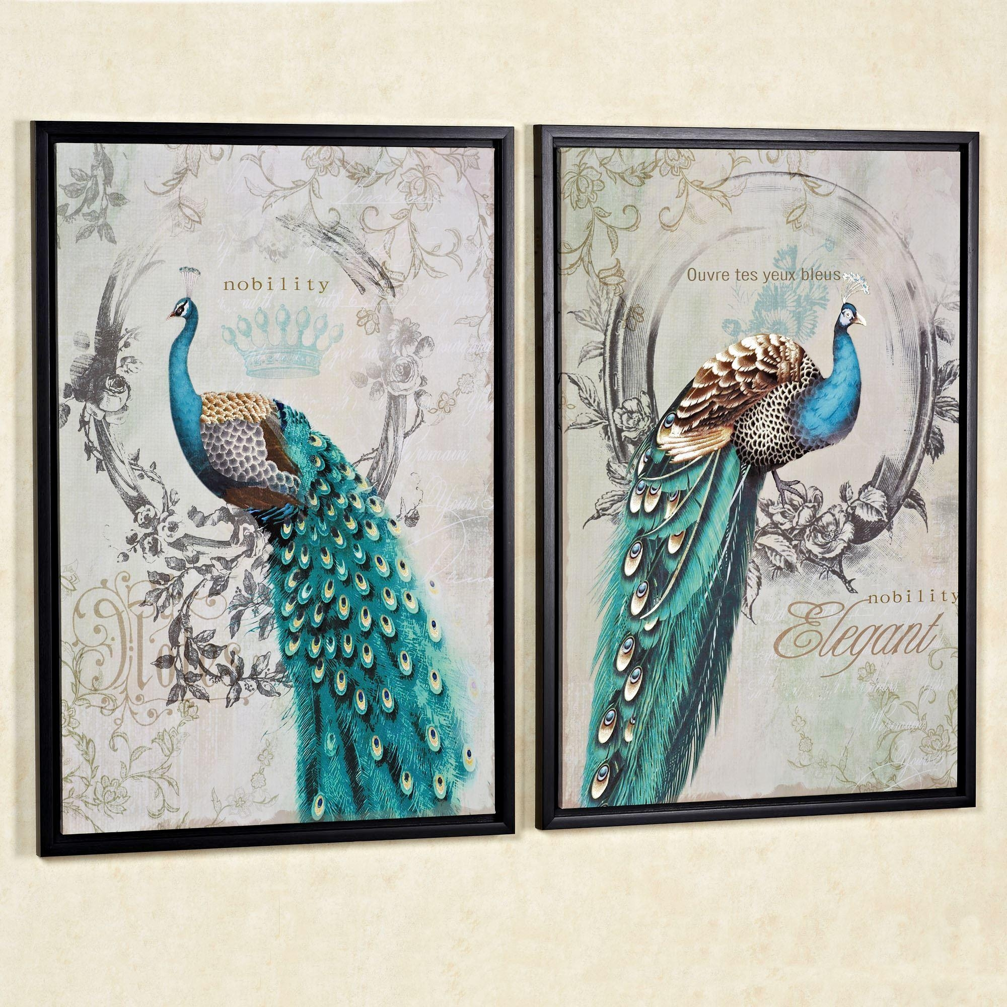Metallic Decor Design Home Accents 20 Photos Metal Peacock Wall Art Wall Art Ideas