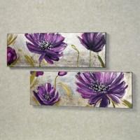 20+ Choices of Purple Flower Metal Wall Art | Wall Art Ideas