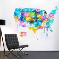 21 Ideas of United States Map Wall Art | Wall Art Ideas