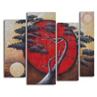 20 Inspirations 4 Piece Canvas Art Sets | Wall Art Ideas
