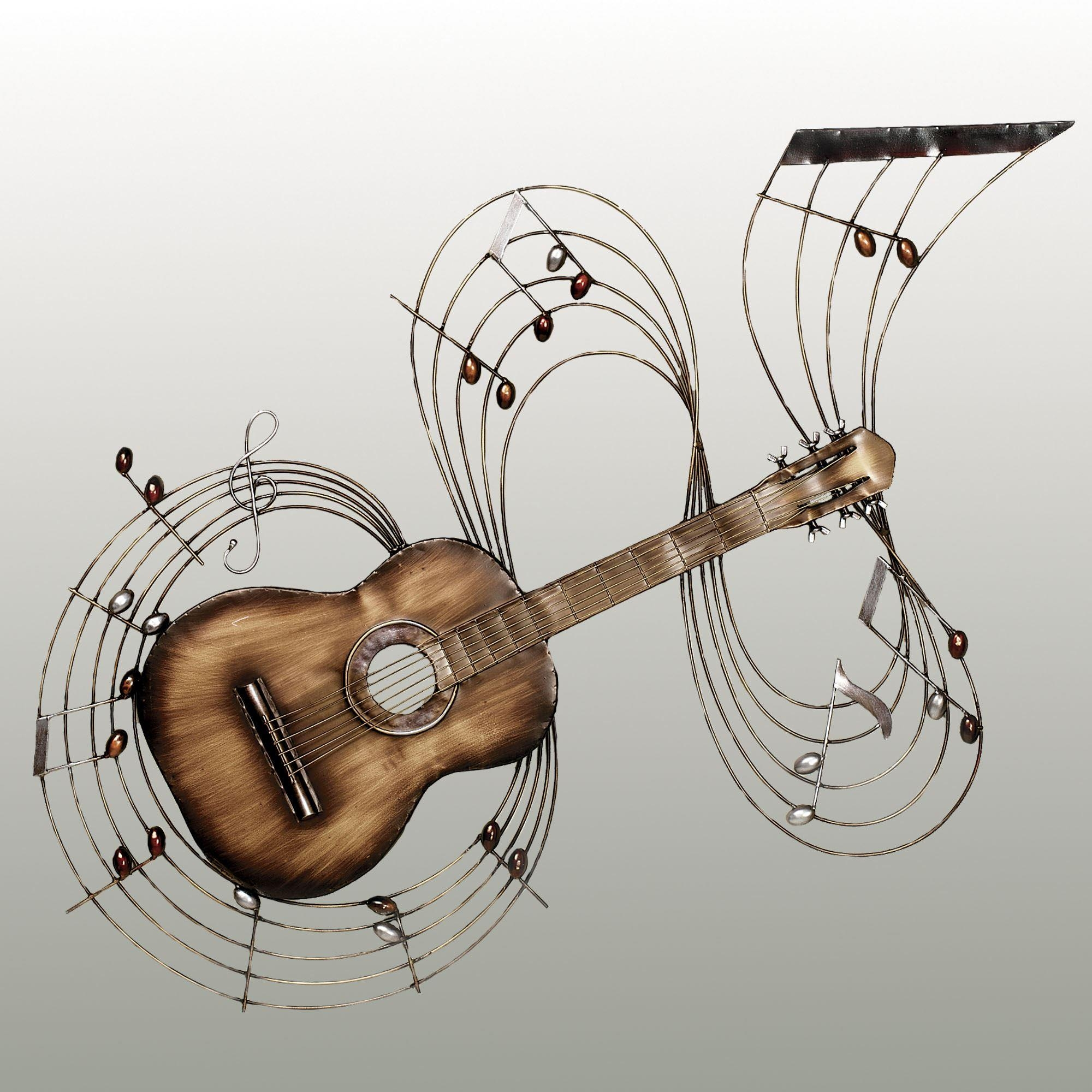 Music Notes Metal Wall Art 20 Collection Of Guitar Metal Wall Art Wall Art Ideas