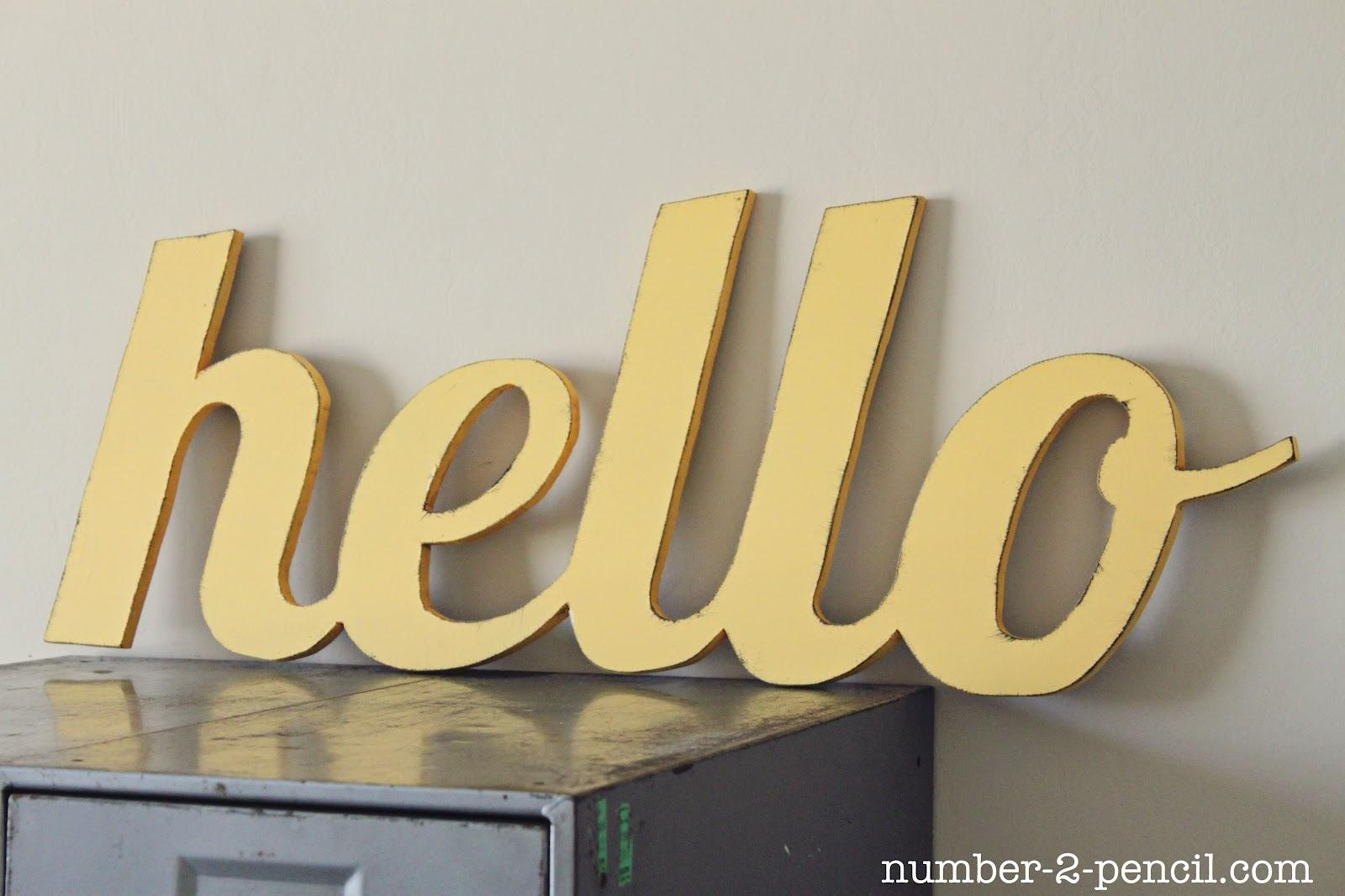 Wooden Word Art For Walls - Elitflat