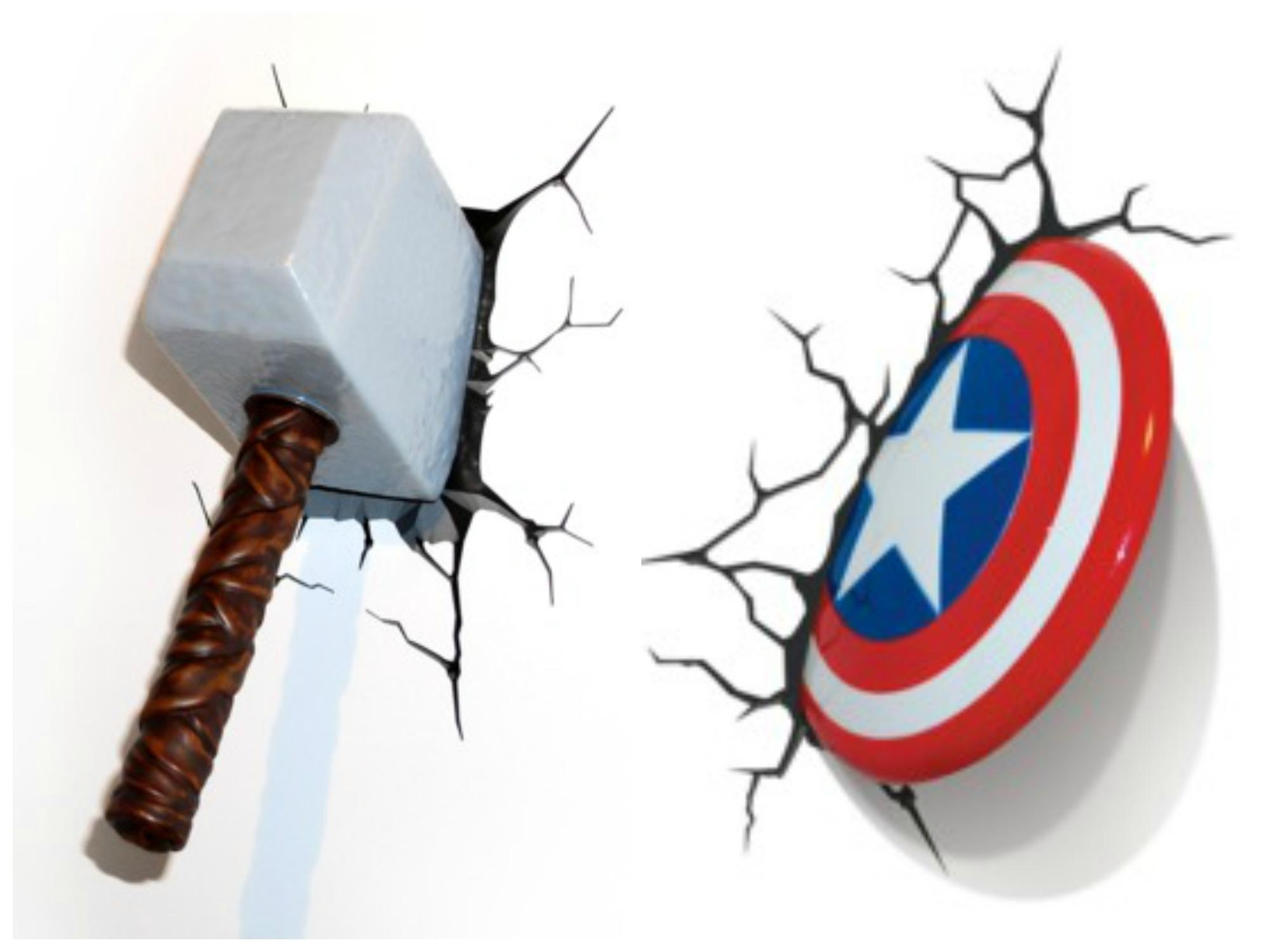 3d Wall Art Night Light 20 Inspirations The Avengers 3d Wall Art Nightlight Wall