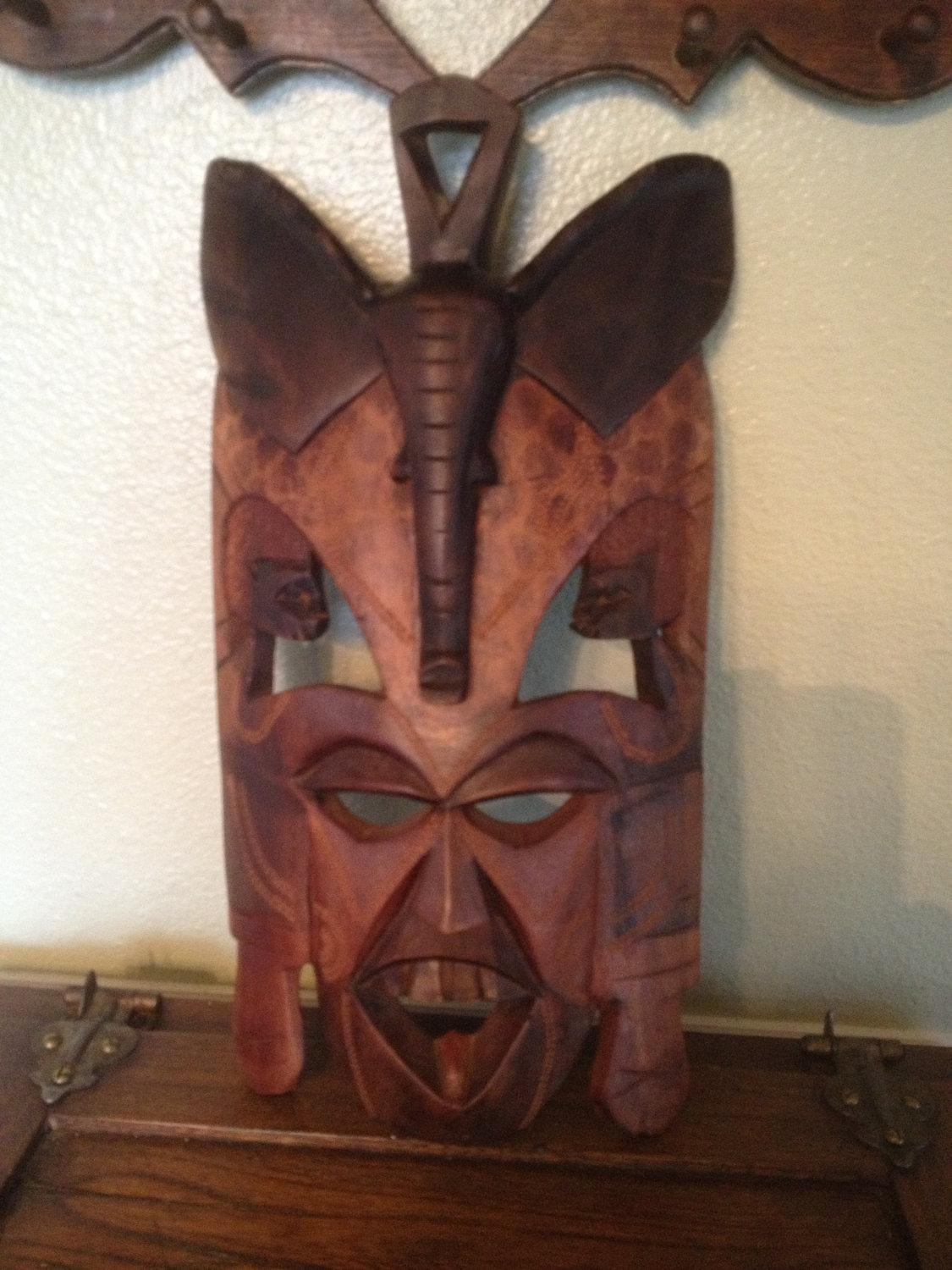 African Wooden Wall Art 20 Best Ideas Wooden Tribal Mask Wall Art Wall Art Ideas