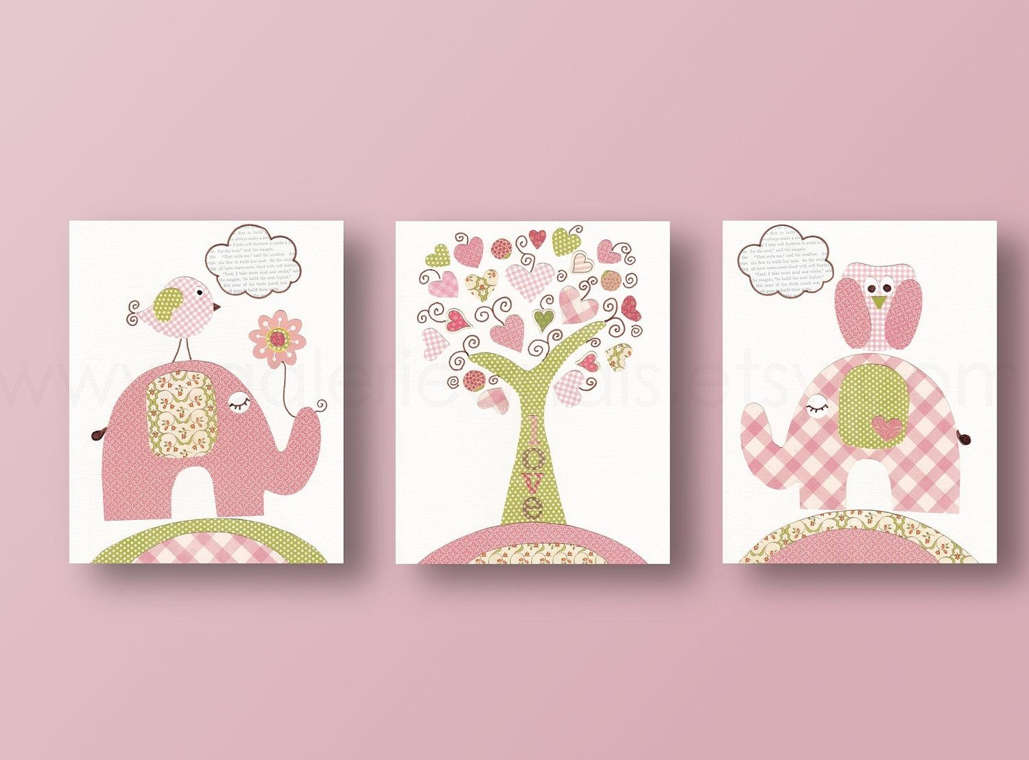 20 Inspirations Elephant Wall Art for Nursery