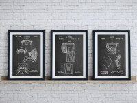 20 Inspirations Black and White Bathroom Wall Art