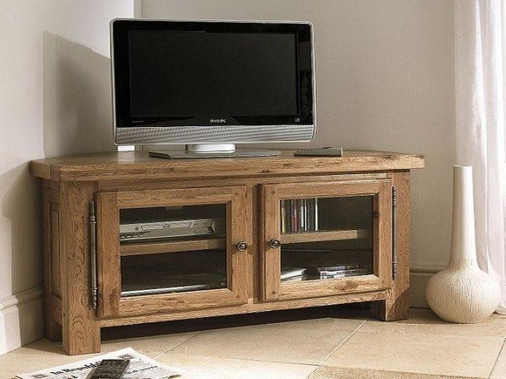 2019 Latest Small Oak Corner Tv Stands Tv Cabinet And