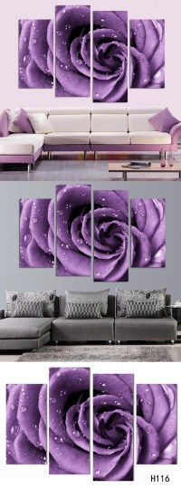 20 Best Collection of Purple Wall Art for Bedroom   Wall ...