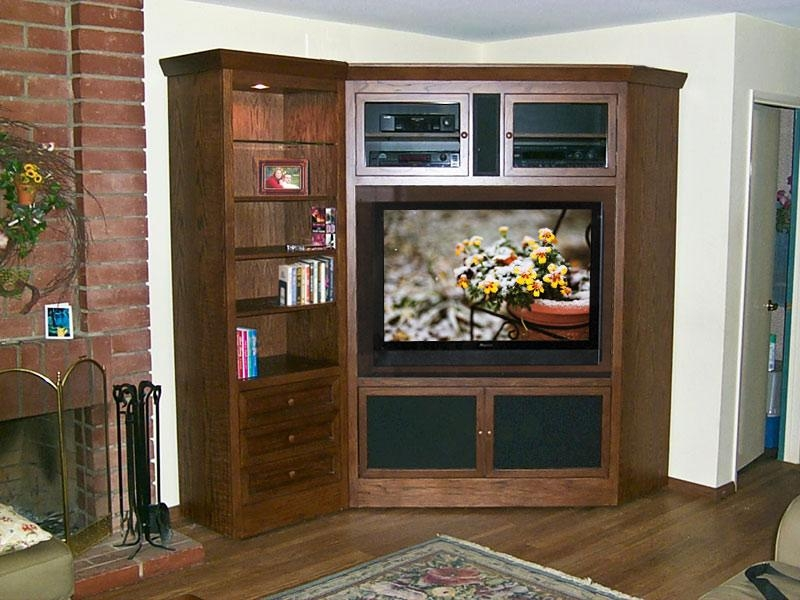 2019 Latest Corner Tv Cabinets For Flat Screens With Doors