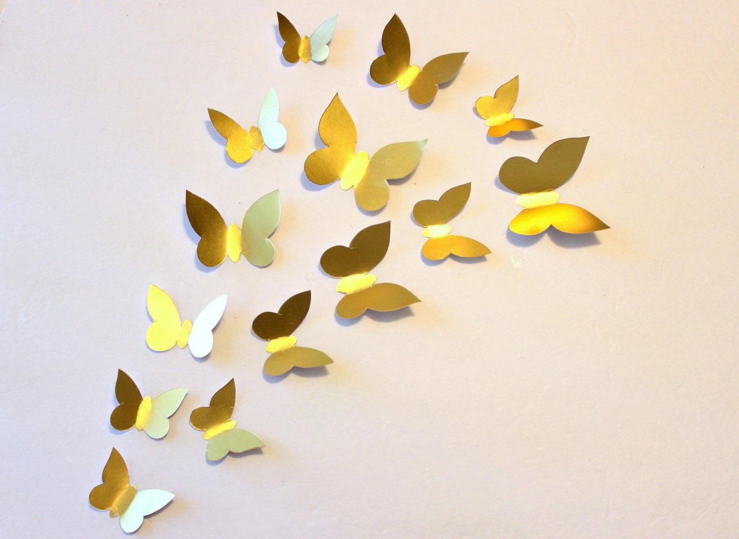 Attractive Gold Butterfly Wall Decor Frieze - Wall Art Collections ...