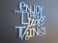20 Photos Metal Wall Art Quotes | Wall Art Ideas