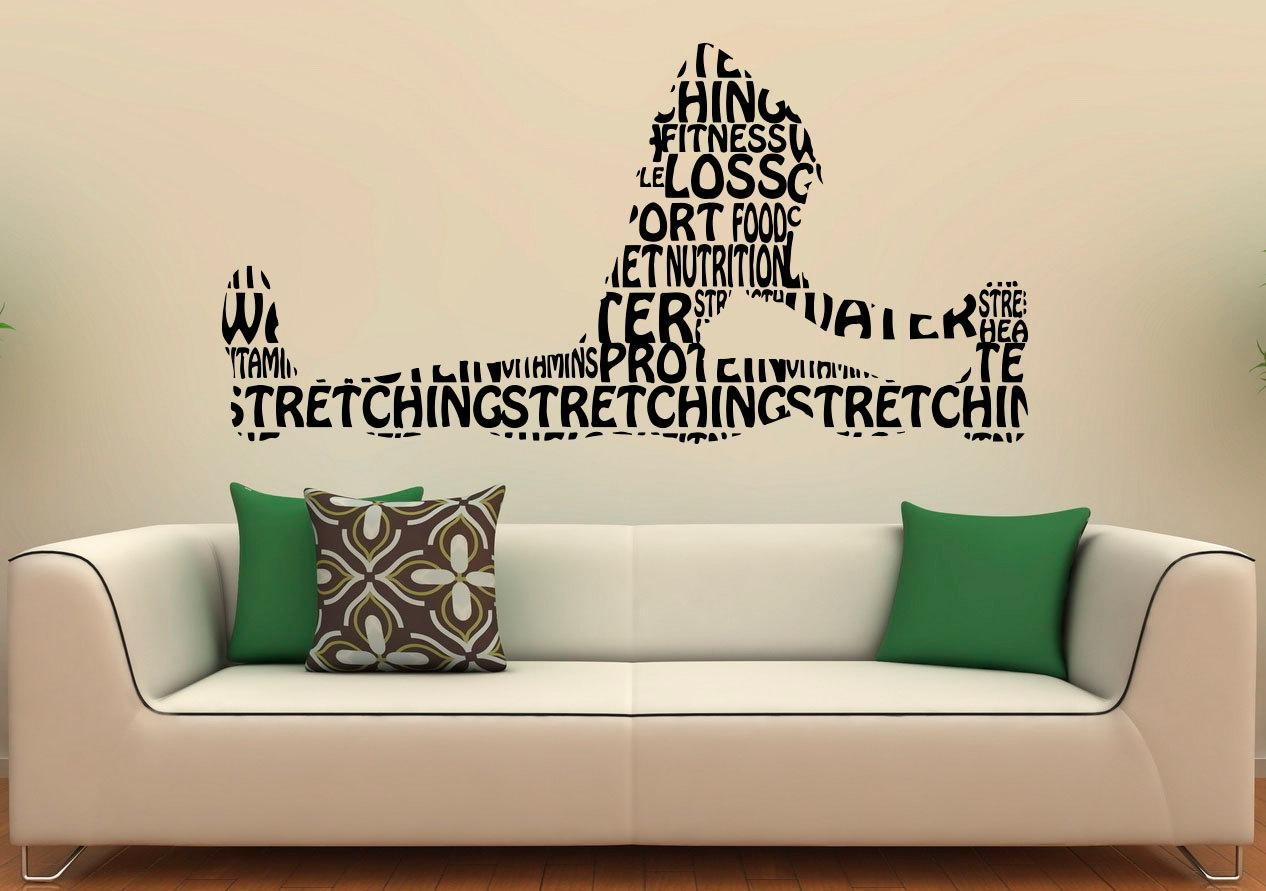 SaveEnlarge Fitness Day Beautiful Wall Decals