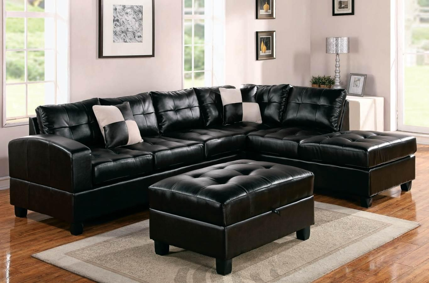 Leather Sectionals For Sale 21 Collection Of Black Leather Sectional Sleeper Sofas