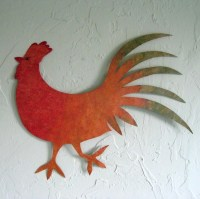 20+ Choices of Metal Rooster Wall Art