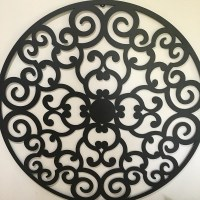 Large Round Metal Wall Decor   Wall Plate Design Ideas