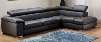 21 Collection of Black Leather Sectional Sleeper Sofas ...