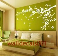 2018 Latest Cherry Blossom Vinyl Wall Art | Wall Art Ideas