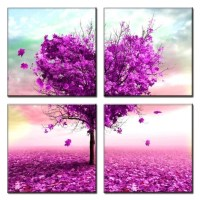 20 Collection of Purple Bathroom Wall Art | Wall Art Ideas