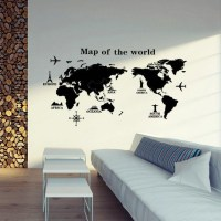 20 Best Collection of World Map Wall Art Stickers | Wall ...