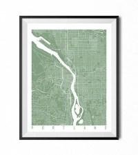 20 Top Portland Map Wall Art | Wall Art Ideas