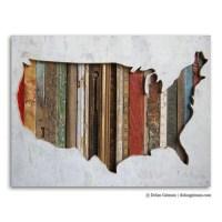 20 Collection of Usa Map Wall Art | Wall Art Ideas