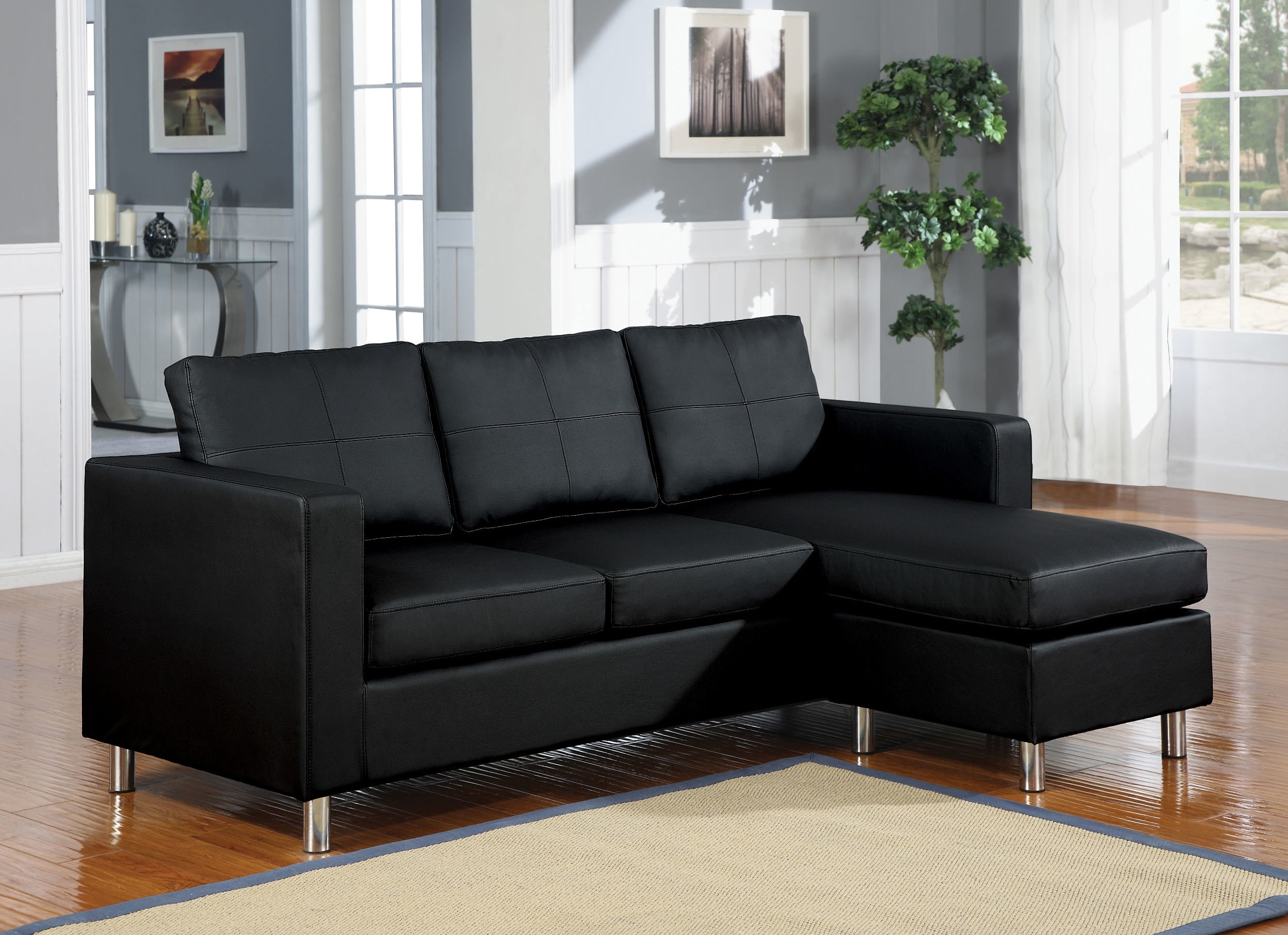 Sofa Planer 10 Best Collection Of Black Leather Sectionals With