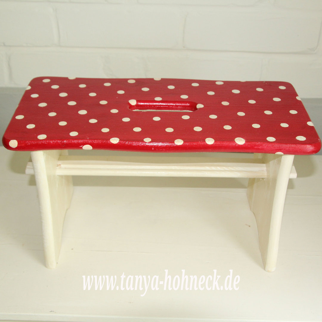 Schemel Hocker Hocker Rot White Dots Schemel