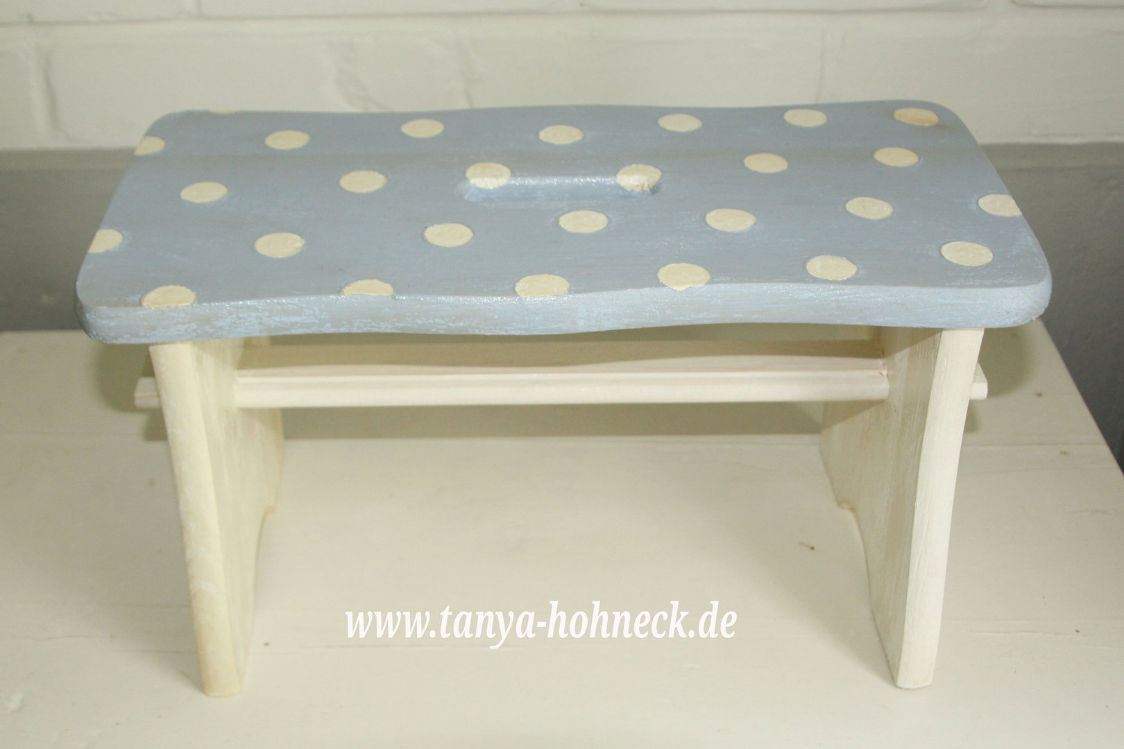 Schemel Hocker Hocker Hellblau