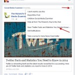 Save Content From Your Facebook Feed