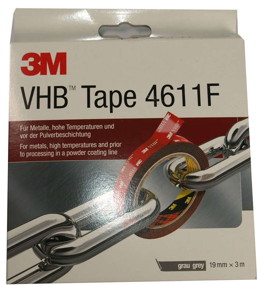 3m Vhb Tape Canada 3m Vhb 4611f Double Sided Acrylic Foam Tape Grey 3m X 19mm
