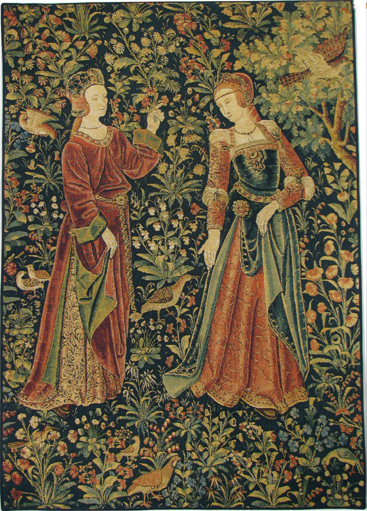 Wand Teppich The Promenade With 2 Figures Tapestry - Scenes From Lordly
