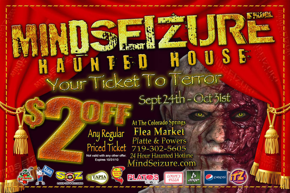 Mind Seizure Haunted House - Colorado Springs Advertising and - House Advertisements