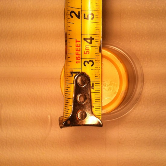 Mustard Meyhem Real World Math Task - Diameter of the Bottom of the container
