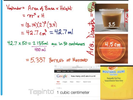 Mustard Mayhem 3 Act Math Task Solutions Part 2