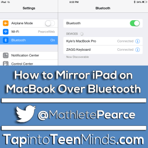 How To Mirror iPad On MacBook Over Bluetooth