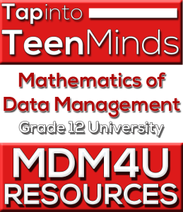 MDM4U Grade 12 Data Management Mathematics