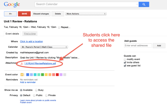 Students Click Here to Access the Shared Google Drive File