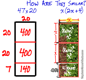 Comparing Simple Multiplication with Area and an Unknown