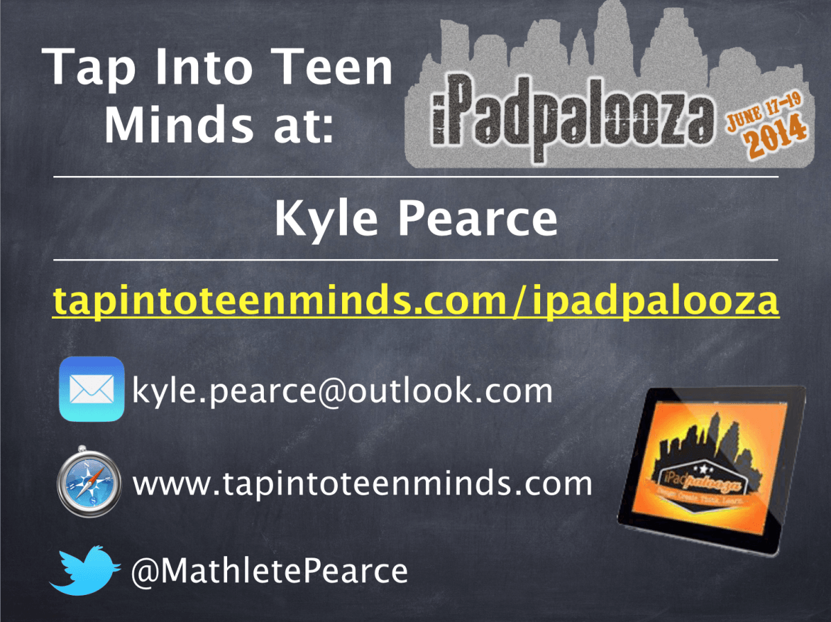 iPadpalooza Tap Into Teen Minds Session