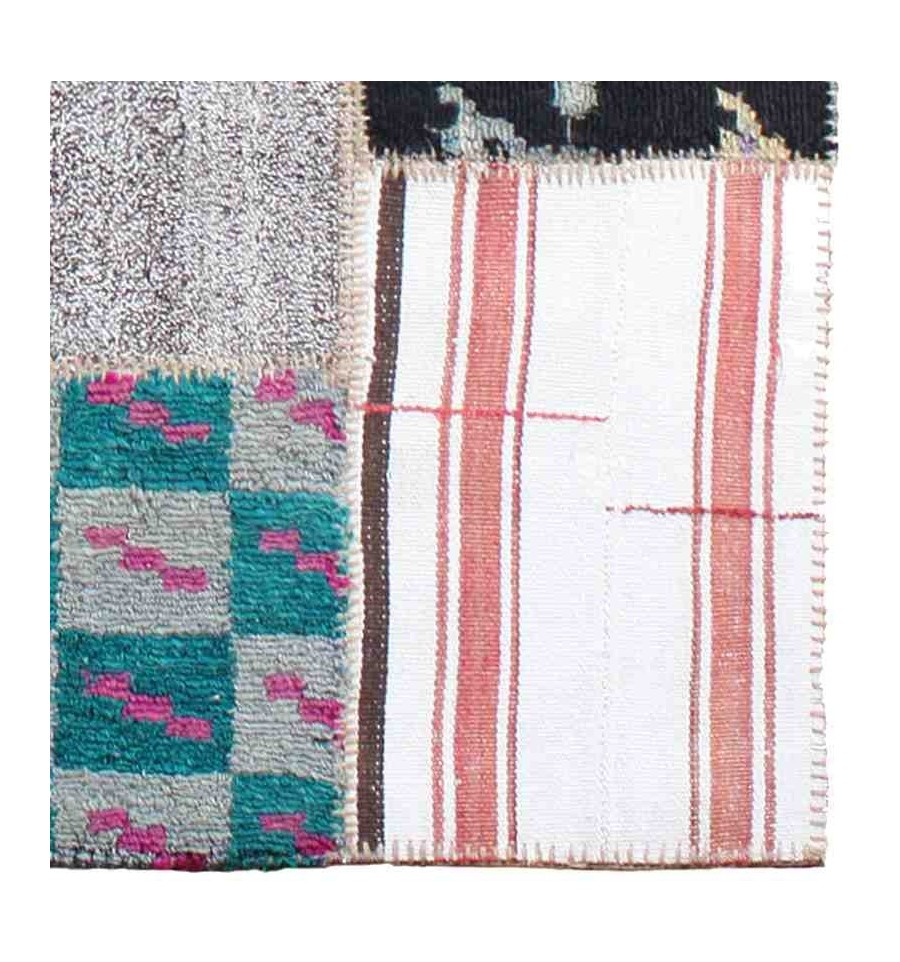 Tappeti Vintage Patchwork Tappeto Moderno Per Soggiorno Reform Up Cycled Kelim Multicolor Lana