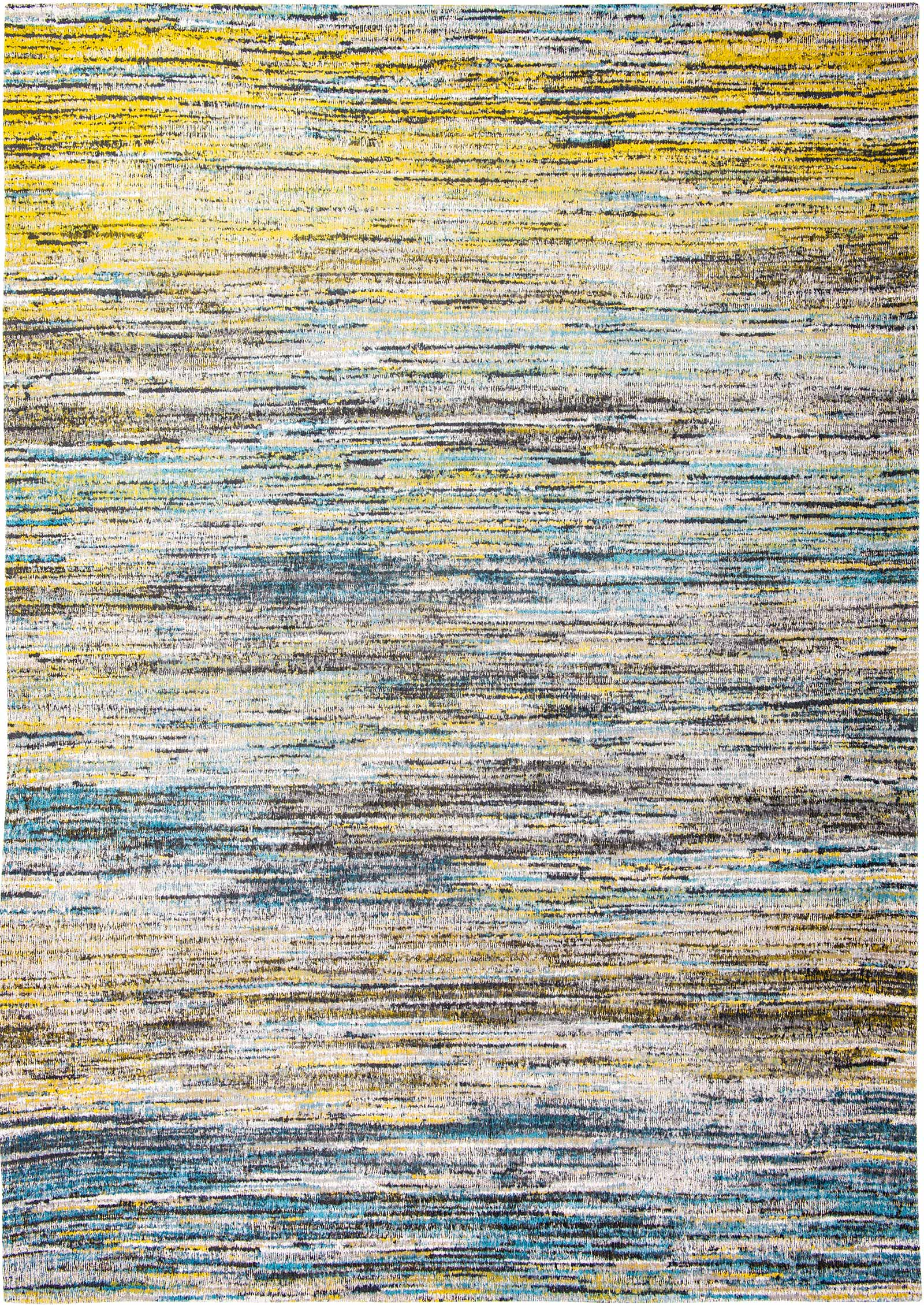 Tappeto Indiano Giallo Tappeto Louis De Poortere Sari Blue Yellow Mix 8873 Sari Design