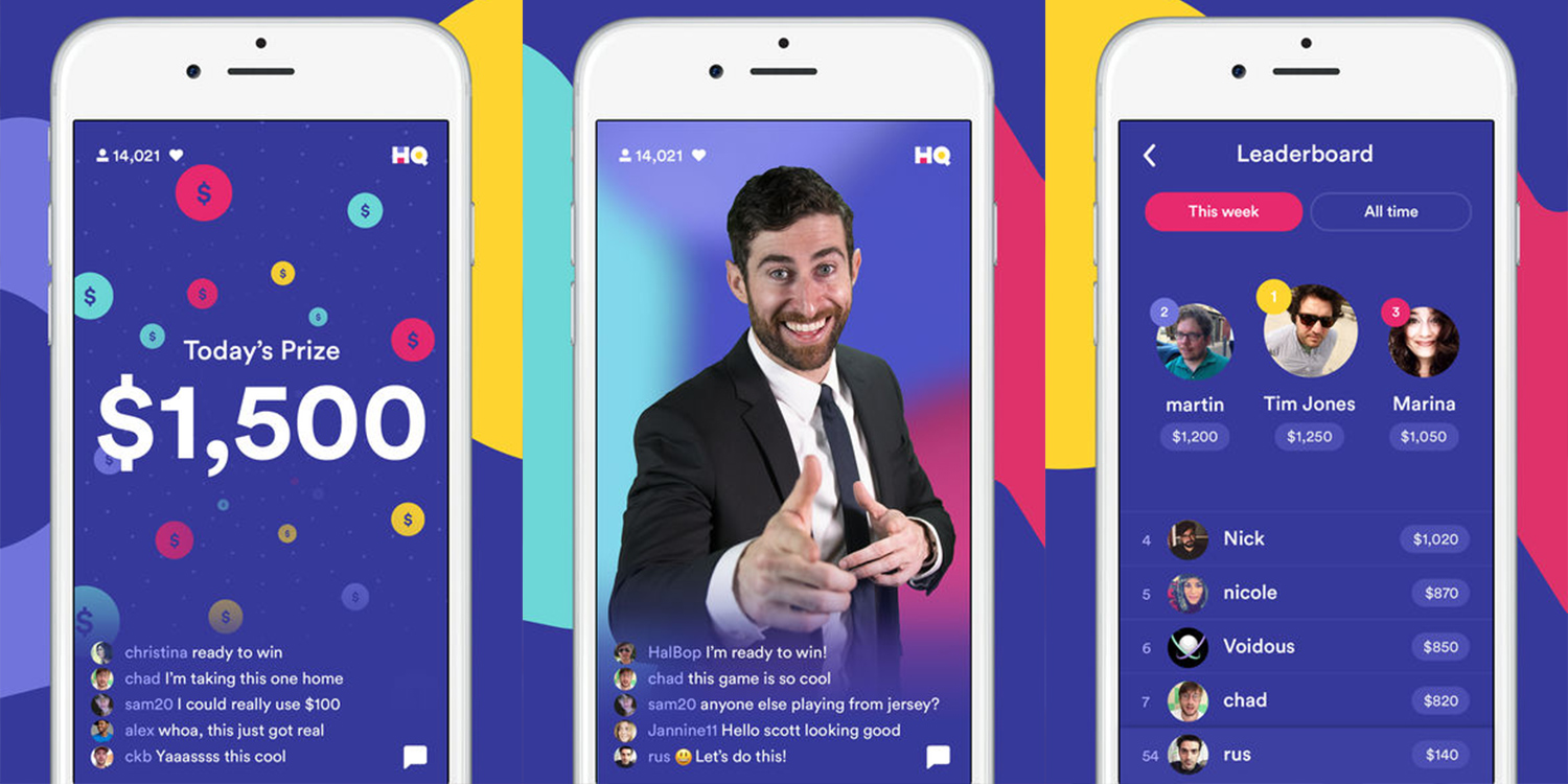 Live Hq Hq Live The Trivia App With Real Cash Prizes Tapsmart