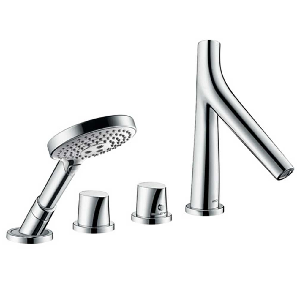 Axor Starck V Washbasin Mixer Axor Starck Organic Chrome 4 Hole Rim Mounted Thermostatic