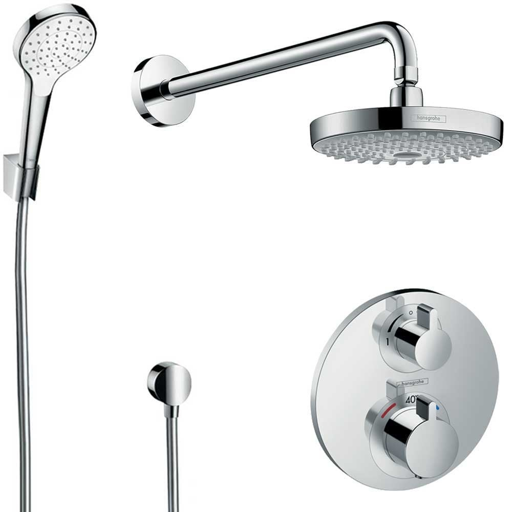 Hansgrohe Croma 2jet Hansgrohe Design Concealed Chrome Showerset Croma Select S