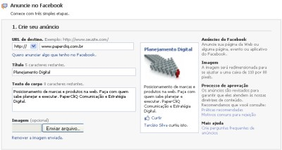 anuncie no facebook - crie seu anuncio