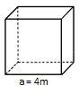 Cubo o hexaedro trazo solido