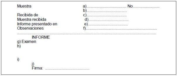 Registro de muestras recibidas y su expresión